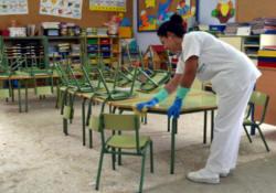 Santander destinará 1,3 millones de euros anuales a la limpieza de colegios
