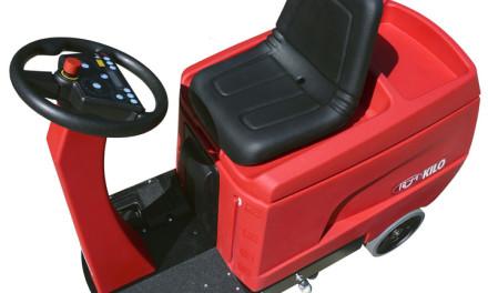 Nueva Fregadora KILO de RCM, la más compacta de conductor sentado.