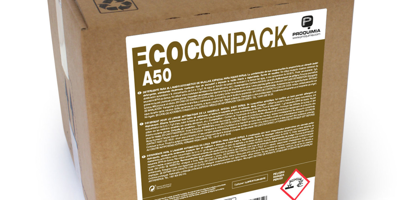 ECOCONPACK A50, lavavajillas ecológico para aguas duras y muy duras