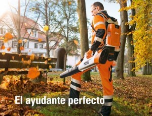 Sopladora para trabajos de limpieza vial y jardinería