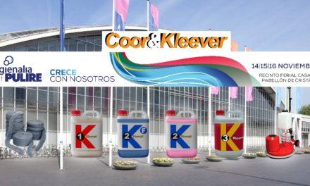 Coor& Kleever estará presente en HYGIENALIA + PULIRE  2017