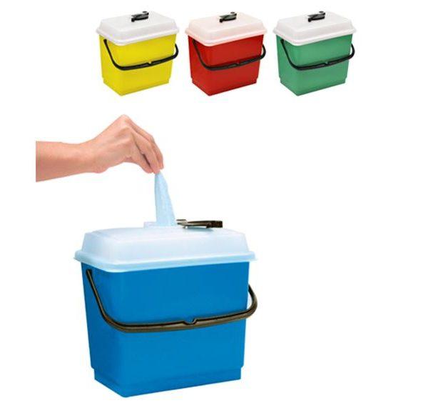 Cubeta 4 litros y tapa hermética para impregnación