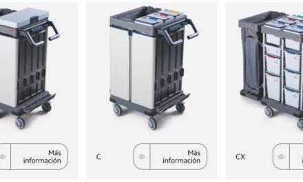 Nuevos carros de limpieza de Vileda Profesional, preparados para la limpieza digital.