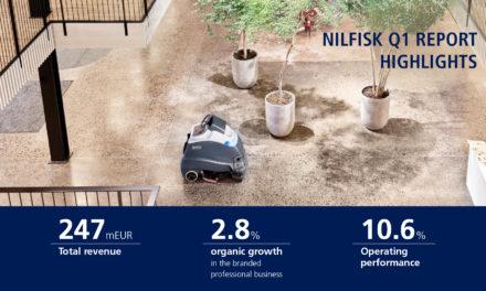 Nilfisk presenta un crecimiento orgánico del 2,8% en la división profesional durante el primer trimestre de 2019
