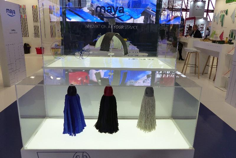 Hygienalia + Pulire 2019. Maya presentó un nuevo concepto de fregona.