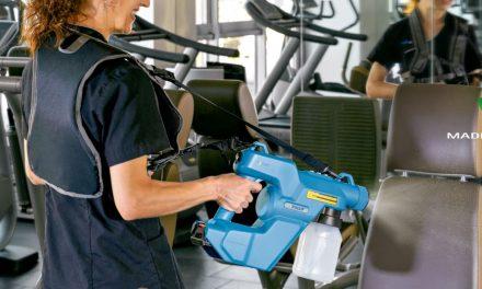 Fimap E-spray, pistola pulverizadora desinfectante.