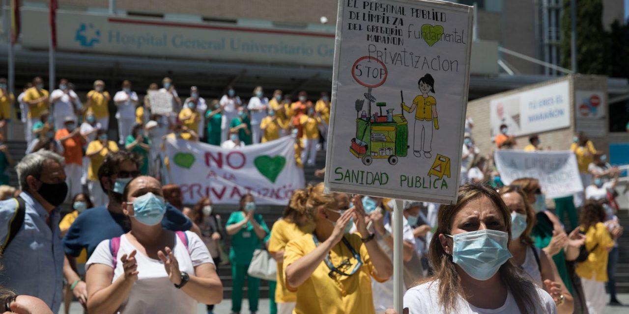 Suspendida la privatización de la limpieza del Gregorio Marañón hasta resolver varios recursos